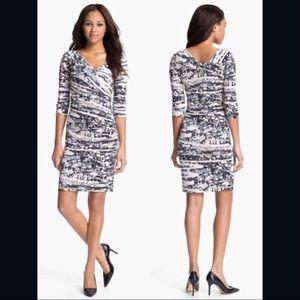💝Gorgeous DVF Bentley Ruched Silk Jersey Dress 2